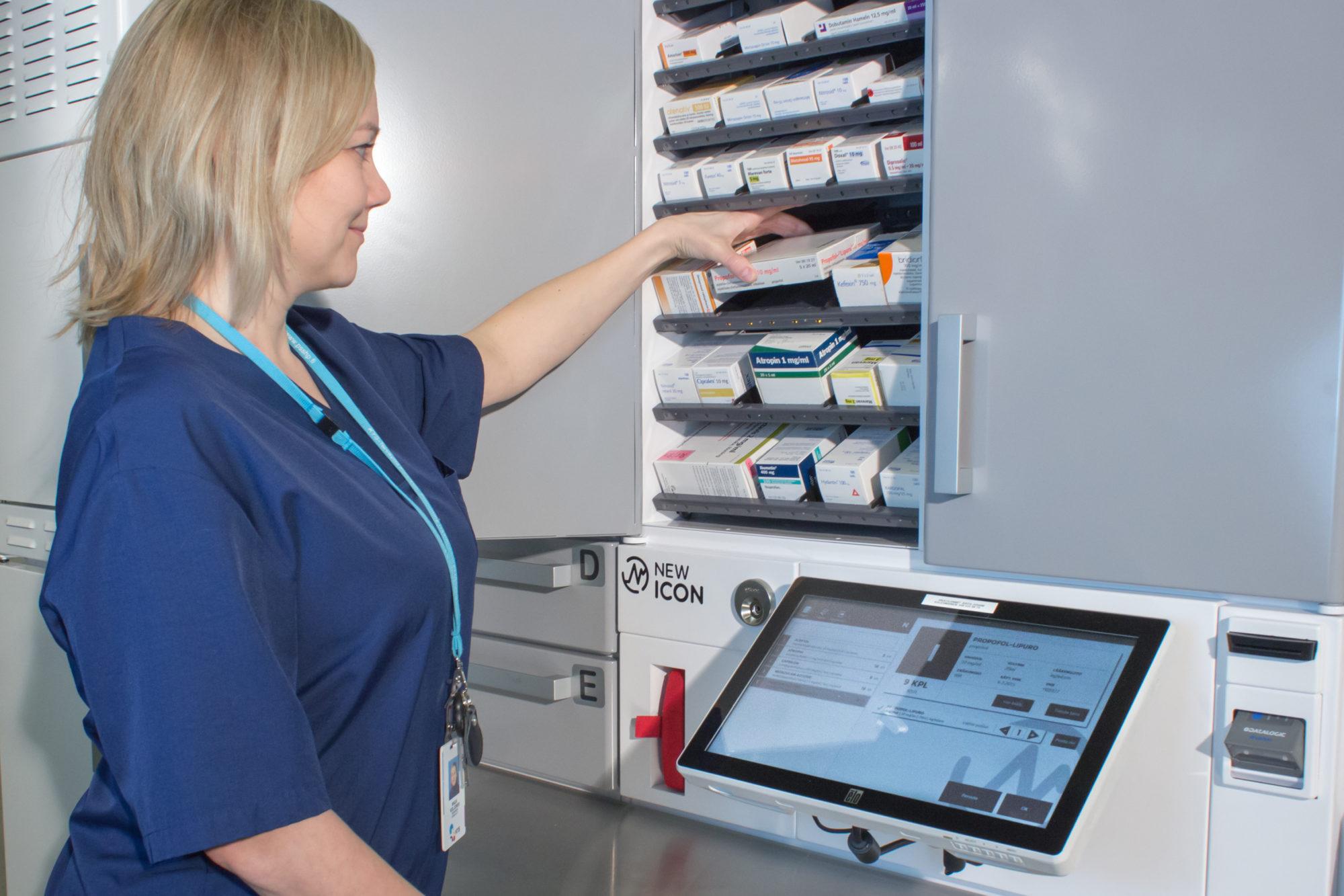 Tiedote: Etelä-Karjalan keskussairaalan älylääkekaapit vapauttavat hoitajien käsiä potilaiden tarpeisiin
