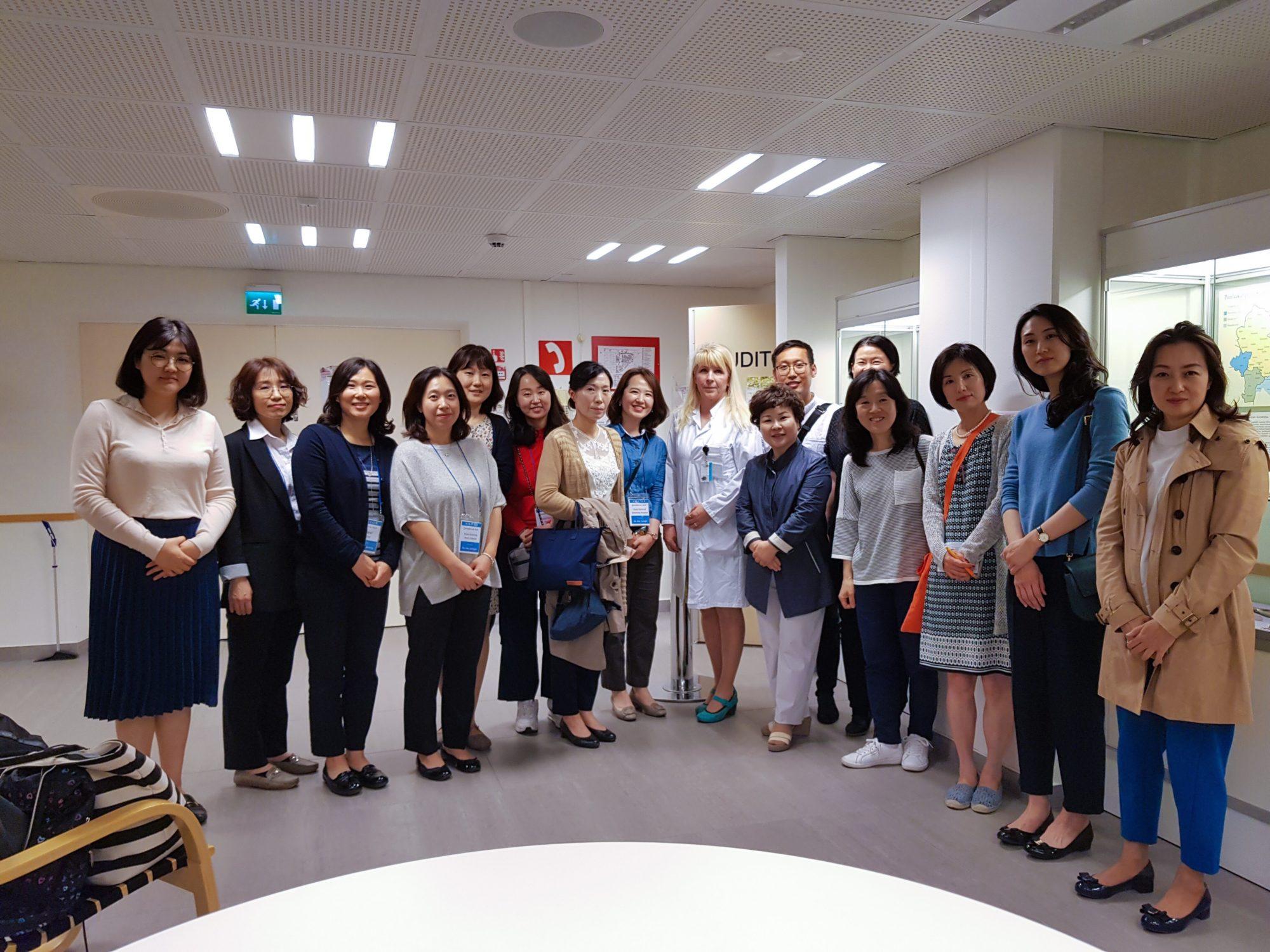Korean hospital industry delegation in Finland
