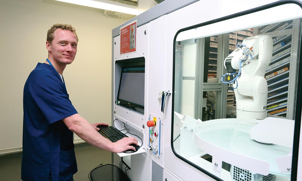 Farmaceutisk betjeningssoftware integreret i andre af hospitalets datasystemer